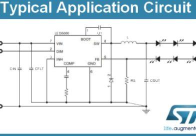 LED5000 – zasilanie diod LED do 3A. Propozycja STMicroelectronics.