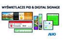 Wyświetlacze do zastosowania w informacji publicznej i digital signage od AUO