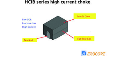 High current choke from the EROCORE HCIB series